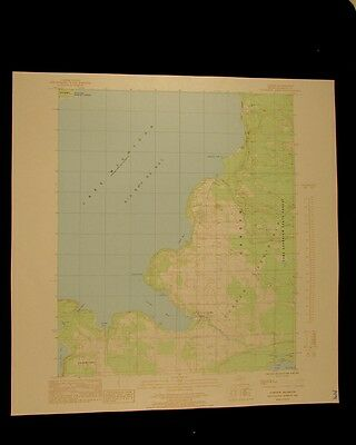 Garden Michigan vintage 1985 original USGS Topographical chart