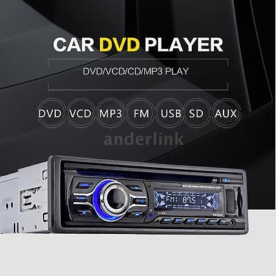 Universal Car CD DVD VCD MP3 MP4 Player Stereo Radio FM Aux Input SD/USB Port US