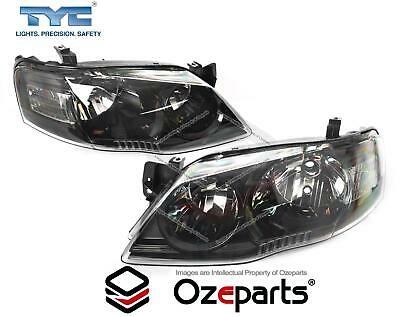 Ford Falcon Fairmont BF Series 2 06~08 Pair LH+RH Head Light Lamp (XT Black)