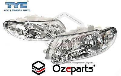 Holden Commodore VX VU Pair LH+RH Head Light Lamp Halogen Chrome Tear Drop