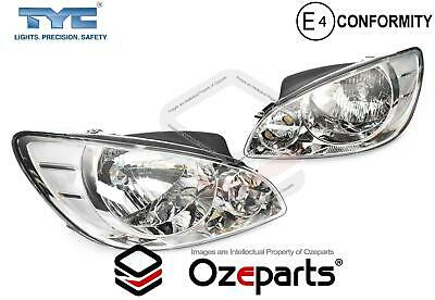 TYC Pair LH+RH Head Light Lamp For Hyundai Getz TB Series 1 Hatch 2005~2007