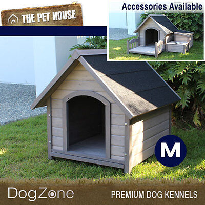 NEW Medium Somerset A-Frame Wooden Dog House Wood Timber Kennel