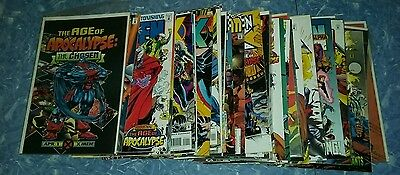 age of apocalypse 42 issue near complete comics lot x-men movie run set x-factor