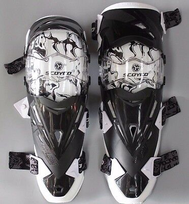 Scoyco Motorcycle Moto X/BMX/Off Road Knee Brace Gear Protector Safety White