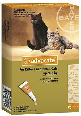 Advocate For Cats / Kittens / Rabbits / Ferrets under 4kg (6pk) - Aussie Seller