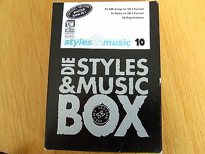 Styles & Music Keyboardsoftware 10: 16 Songs/Styles im SD 1 Format