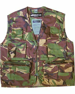 Kombat Kids DPM Woodland Camouflage Multi Pocketed  Play Vest Play ARMY SOLDIER