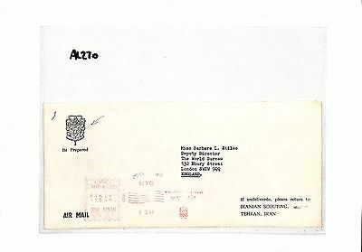AL270 1974 Persia London GB 'Be Prepared' Stamp samwells-covers
