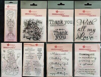 Woodware Singles Larger Clear Stamps (Christmas,Celebrations, Sympathy Verses)