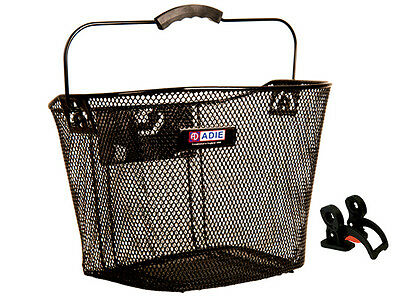 Adie Mesh Front Bicycle Shopping Basket -Quick Release - Black - cycle/bike/mtb