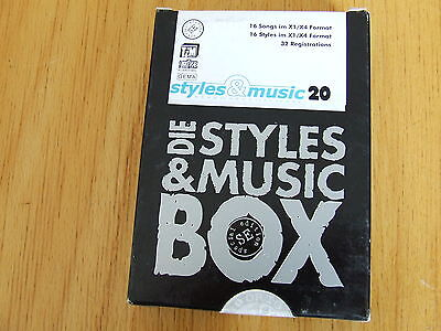 Styles & Music Keyboardsoftware 20: 16 Songs/Styles Ketron X1/X4