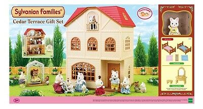 Sylvanian Families Cedar Terrace Set with Figure Accessories 3+
