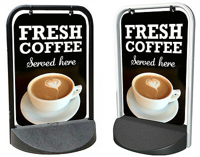 Coffee Shop Sign PAVEMENT SIGN ALUMINIUM DISPLAY Catering Sign, Fresh Latte
