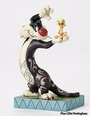 Looney Tunes Sylvester and Tweety Figurine - I Tawt I Taw A Puddy Tat -Jim Shore