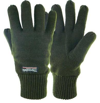 Highlander Thinsulate lined Drayton Thermal Acrylic  gloves Olive Green Outdoor