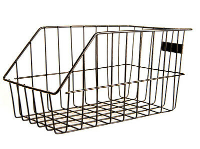 Large Rear Wire Tray Bicycle Bike Shopping Basket - Black