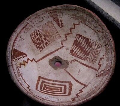 MLC S176 Anasazi - Mimbres effigy pot red on white RARE New Mexico artifact COA