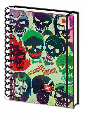 Suicide Squad - Skulls - Notizbuch A5, Spiralbindung, Notebook, Ringbuch