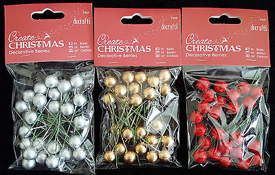 Create Christmas Decorative Berries ( 3 colours to choose from)