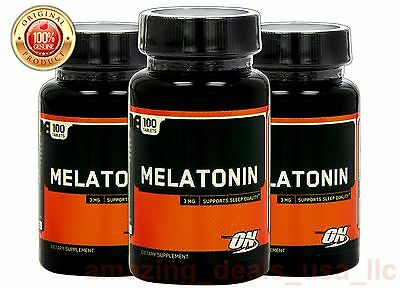 ON MELATONIN 3 mg 100 tabs (3 PACK) STRESS RELIEF NATURAL SLEEP AID - Free Ship