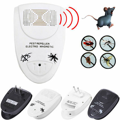 Electronic Pest Reject Magnetic Repeller Ultrasonic Anti Mosquito Insect Killer
