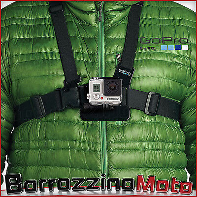 CHEST MOUNT PETTORINA REGOLABILE IMBRAGATURA PETTO PER ACTION CAM e PER GOPRO