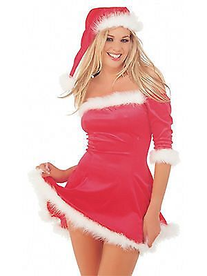 New Classified Adult Fancy Dress Outfit Miss Santa Costume Ladies Sexy Christmas