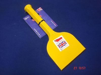"Footprint Brick Block Bolster Hand Chisel 4"" / 100mm YELLOW Made In Sheffield"