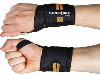 Pack Of 2 Sports Training Wrist Band Weight Lifting Support Gym Exercise