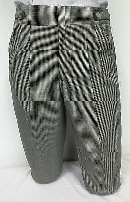 Black and White Houndstooth Patterned Dress Pants Theater Halloween Costume