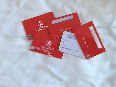 NEW Emirates Airlines Durable Luggage Tags 4x Reusable