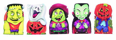 6 Halloween Finger Puppets - Trick Or Treat Toy Loot/Party Bag Fillers