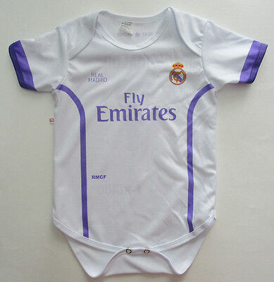 Baby's Real Madrid FC One-piece Romper, New White Purple Mameluco 12-18 Months