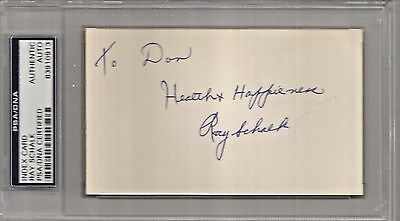 Ray Schalk Autographed Index Card PSA/DNA Certified Authentic