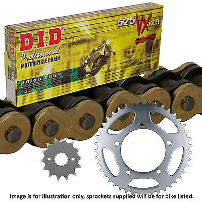 Honda CBF500 ABS 2003 DID Gold X-Ring Chain and Sprocket Kit