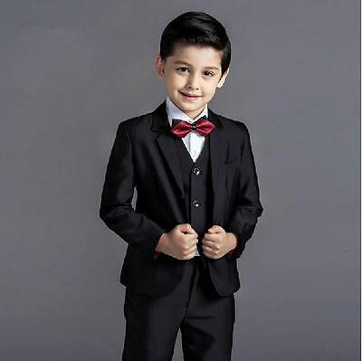 3 Piece Kid Boy's Formal Wedding Groom Tuxedos Children Evening Party New Suits