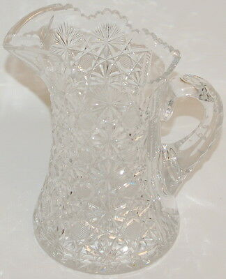 "ABC ABP American Brilliant Period Heavy Cut Glass 10"" Tall Pitcher"