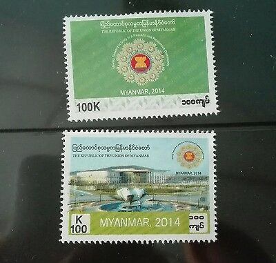 Mint Myanmar Burma stamps moving forward in unity (2 stamps in 1 set)