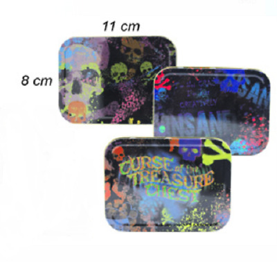 Psychedelic Pirate Assorted Designs Tobacco Cigarette Stash Tin Box Large