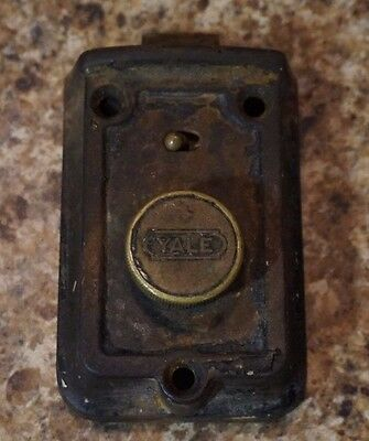 Vintage Yale Door Thumb Lock Antique Rare