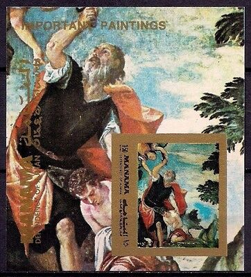 Manama The Sacrifice of Isaac  Paolo Veronese Paintings Religion Bible Imperf NH