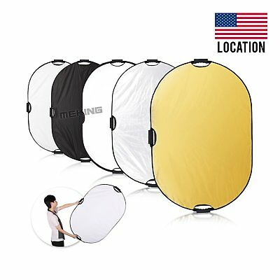 Selens 5-in-1 32x48 inch Oval Reflector with Handle for Photography Photo Studio