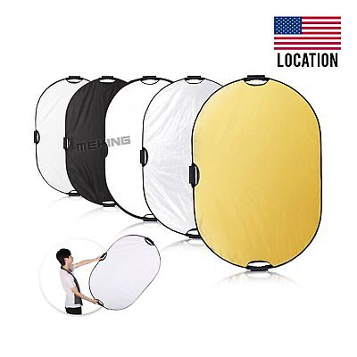US Selens 5-in-1 32x48 inch Oval Reflector & Handle for Photography Photo Studio