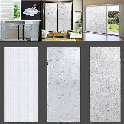 Frosted Self Adhesive Static Cling Glass Privacy Window Film Sticker 45x100cm C