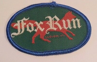 FOX RUN Skiing Ski Patch Ludlow VERMONT VT Okemo Mountain Cross Country Closed