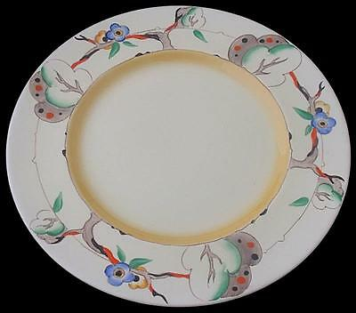 Attractive Large Clarice Cliff Plate - Tiger Tree Pattern - 1930's Art Deco