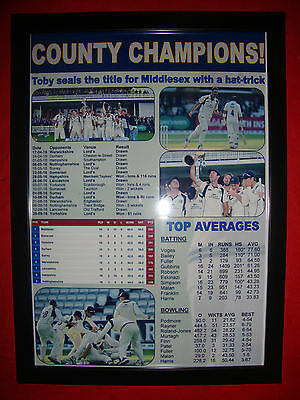 Middlesex CCC 2016 County Champions - framed print