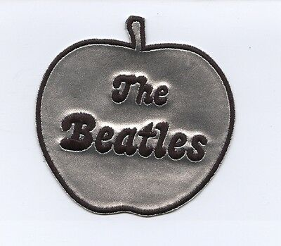 The Beatles Apple Records Silver Chrome Apple Logo Patch