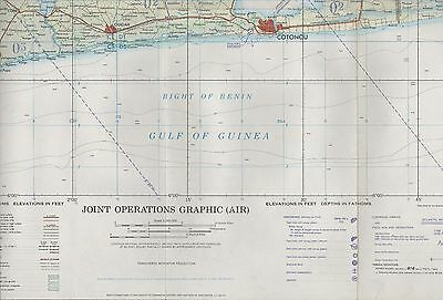 Bight of Benin. Guinea. 1967 Military Joint Operations (AIR)  Map ZW55