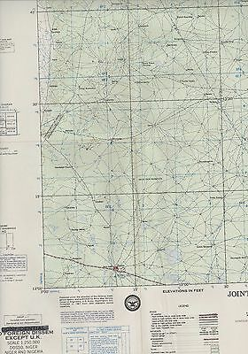 Dosso,  Nigeria. 1967.  Military Joint Operations (AIR)  Map ZW57